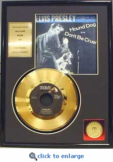 Elvis Presley - Hound Dog Framed Gold Record