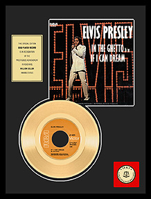 Elvis Presley - If I Can Dream Framed Gold Record