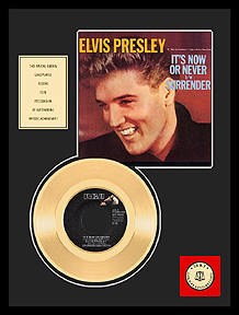 Elvis Presley - It's Now or Never Framed Gold Record