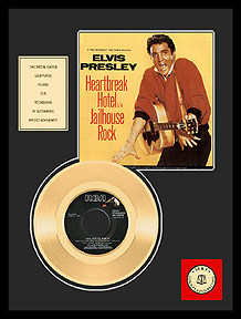Elvis Presley - Jailhouse Rock Framed Gold Record