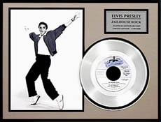 Elvis Presley - Jailhouse Rock Framed Platinum Edition Record - LE 5,000