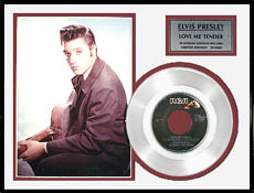 Elvis Presley - Love Me Tender Framed Platinum Record, LE 5,000