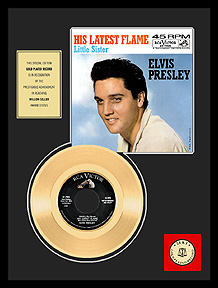 Elvis Presley - Marie's The Name… Framed Gold Record