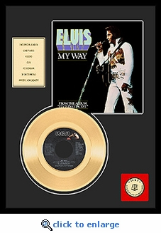 Elvis Presley - My Way Framed Gold Record (w/sleeve)