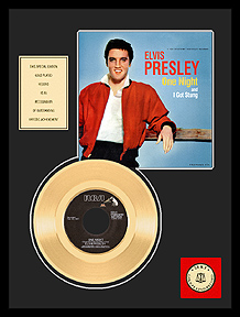 Elvis Presley - One Night Framed Gold Record