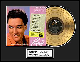 Elvis Presley - Something For Everybody Framed Gold Record