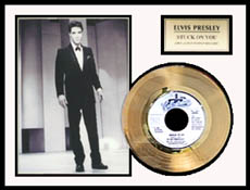 Elvis Presley - Stuck on You Framed Gold Record