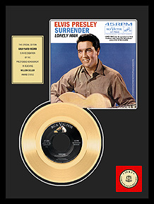 Elvis Presley - Surrender Framed Gold Record