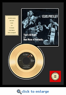 Elvis Presley - That's All Right Framed Gold Record (w/sleeve)