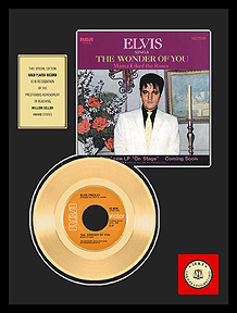 Elvis Presley - The Wonder Of You Framed Gold Record