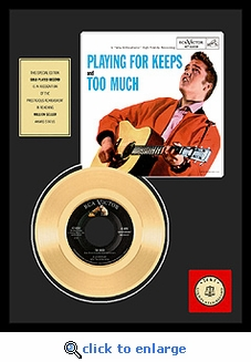 Elvis Presley - Too Much Framed Gold Record
