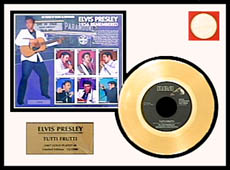 Elvis Presley - Tutti Frutti Framed Gold Record w/ Stamp Sheet