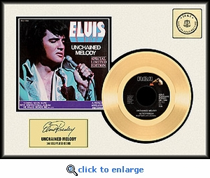 Elvis Presley - Unchained Melody Framed Gold Record