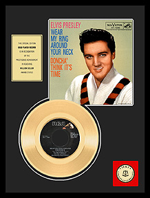 Elvis Presley - Wear My Ring Around Your Neck Framed Gold Record