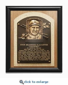 Enos Slaughter Baseball Hall of Fame Plaque Framed Print - St Louis Cardinals