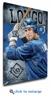 Evan Longoria - Fortitude - 12x18 Art Reproduction on Canvas by Justyn Farano - Rays