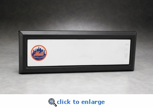 Executive Full Size Pitching Rubber Acrylic Front Display Case with Formed Back