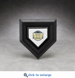 Executive Micro Mini Home Plate Acrylic Front Display Case with Formed Back