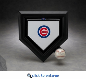 Executive Mini Home Plate and Baseball Acrylic Front Display Case with Formed Back