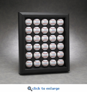 Executive Thirty Baseball Rectangular Acrylic Front Display Case with Formed Back
