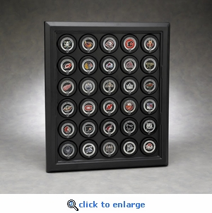 Executive Thirty Hockey Puck Acrylic Front Display Case with Formed Back