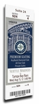 Felix Hernandez Perfect Game Canvas Mega Ticket - Seattle Mariners