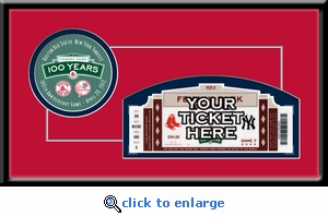 Fenway Park 100th Anniversary Game Single Ticket Frame - Boston Red Sox