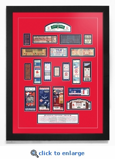Fenway Park 100th Anniversary Tickets To History - Framed Print - Boston Red Sox