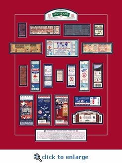 Fenway Park 100th Anniversary Tickets To History - Unframed Print - Boston Red Sox