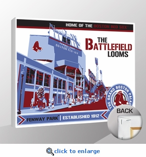 Fenway Park Sports Propaganda Canvas Print - Red Sox