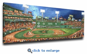 Fenway Park - Tradition Lives Here - 12x18 Art Reproduction on Canvas by Justyn Farano - Red Sox
