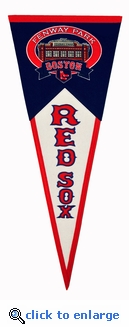 Fenway Park Wool Pennant 13x 32 - Boston Red Sox