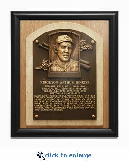 Fergie Jenkins Baseball Hall of Fame Plaque Framed Print - Chicago Cubs