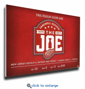Final Game at Joe Lewis Arena Canvas Mega Ticket - Detroit Red Wings