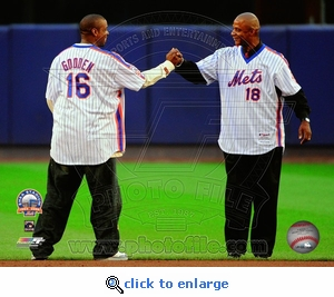 Final Game at Shea Stadium: Dwight Gooden & Darryl Strawberry 8x10 Photo- New York Mets
