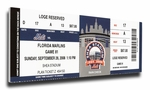 Final Game at Shea Stadium Canvas Mega Ticket - New York Mets