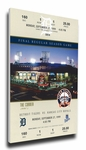 Final Game at Tiger Stadium Canvas Mega Ticket