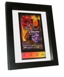 Floating Ticket Frame with Optional Stand