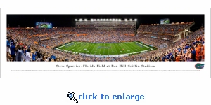 Florida Gators Football - 50 Yard Line - Panoramic Photo (13.5 x 40)