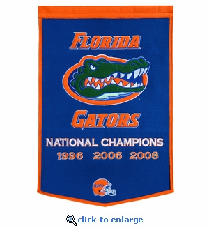 Florida Gators National Champions Dynasty Wool Banner (24 X 36)