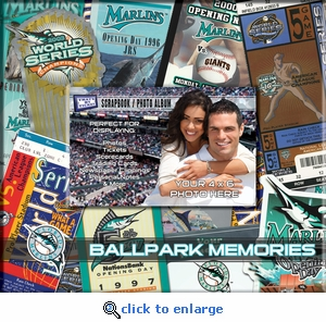 Florida Marlins 8 x 8 Scrapbook - Ticket & Photo Album