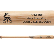 Miami Marlins Personalized Louisville Slugger Bat