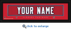 Florida Panthers Personalized Stitched Jersey Nameplate Framed Print