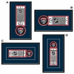 Florida Panthers Single Ticket Frame