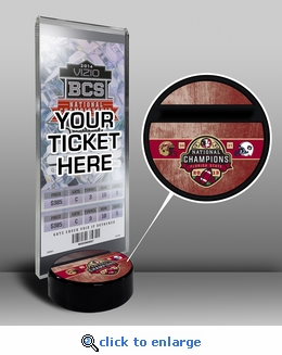 2013 Football National Champions Ticket Display Stand - Florida State Seminoles