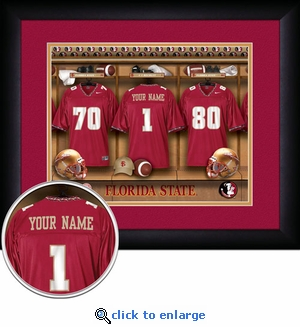 Florida State Seminoles Personalized Football Locker Room Print