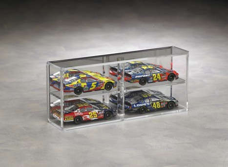 b86bcaf5 Four Diecast Car 1-64th Scale Acrylic Display Case with Mirrored Back