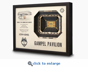 Gampel Pavilion 3-D Wall Art - UCONN Huskies Basketball