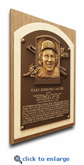 Gary Carter Baseball Hall of Fame Plaque on Canvas - Montreal Expos