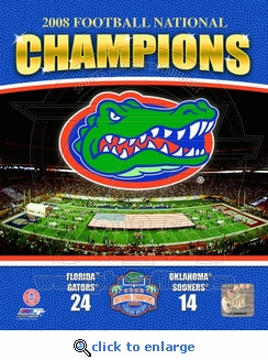 Gators 2008 National Champions Vertical Collage w/ Logo 8x10 Photo